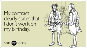 Birthday Contract