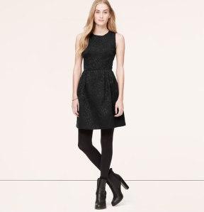 Paisley Jacquard Flare Dress