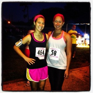 Pretty in Pink 15k with one of my best friends, Marissa