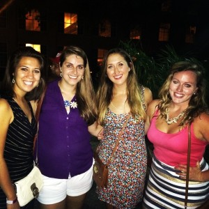 Girls' Night with Melanie, Marissa, and Michelle, the last time we were all together